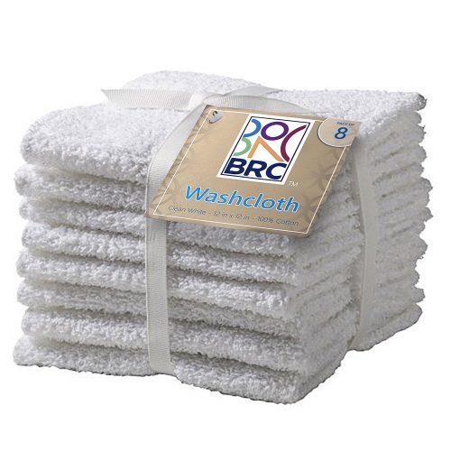 wash cloth white 6pcs 12in by 12 in